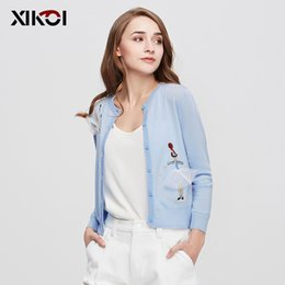 Wholesale Open Breast Clothing - Wholesale-2016 New Autumn Casual Women Cardigan Coat Fashion Solid Thin Open Stitch Women's Cardigans Clothes casaquinho poncho rebeca