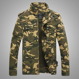 Wholesale Army Camo Uniforms - 2016 NEW Men Jacket Camo army Uniforms high quality long sleeve cool soliders jackets casual men clothing spring coat