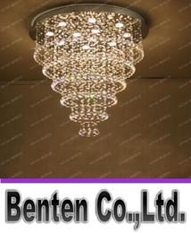 "Wholesale crystal chandelier drop rain - K9 Crystal Chandelier ""Rain Drop"" Crystal Ceiling Lamp with LED GU10 Bulbs Living Room Bedroom Restaurant Lights LLFA"