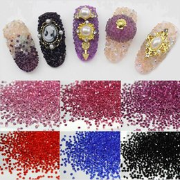 Wholesale 3d Uv Nail Art - New Crystal Pixie Nail Art For 3D Acrylic UV Gel Nail art DIY Decoration 2000pcs   bag