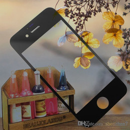 Wholesale Wholesale Mirror Iphone Digitizer - For iPhone 4G 4S 5G 5S 5C Front Outer Glass Lens Touch Screen Cover Touch Screen digitizer replacement repair part high Original copy SNP006