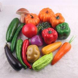 Wholesale Manufacturer Foam - light foam vegetable package 18 sets fake vegetable decorations manufacturers complete sets