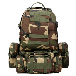 Wholesale Backpack Military Molle Tactical - 55L Outdoor Sport 3D Molle 600D Military nylon wearproof Tactical Backpack Camping hiking Rucksack mountaineering climbing Bag