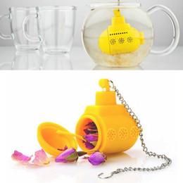 Wholesale Enamel Tea Sets - SHIPPING Teapot Cute Tea Infuser Tea Strainer Silicone Tea Herbal Spice Infuser Filter Coffee & Tea Sets Tools