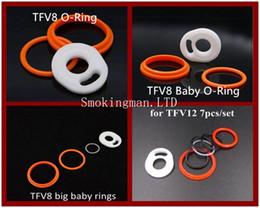Tanque vs gotejamento on-line-TFV8 O Silicone Anéis de Vedação para a Nuvem Besta TFV8 Tanque Do Bebê TFV8 Grande Tanque Do Bebê TFV12 VS Resina Dicas ponta de gotejamento