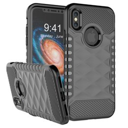 Wholesale Diamond Dust Covers - Diamond Pattern Armor Case for iPhone X 10 Rugged Combo TPU PC Full Protective Shockproof Dust proof Back Cover