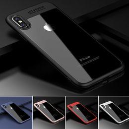 Wholesale Premium Casing - Premium Hybrid PC TPU Clear Case for iPhone X Auto Focus Transparent Back soft Edges Cover for iPhone 6 6s 7 8 Plus