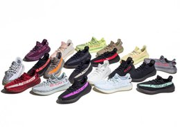 Wholesale Shoe Materials - Raw Factory Materials Boost 350 V2 Running Shoes Cream White CP9366 Semi Frozen Yellow B37572 Zebra CP9654 Kanye West Boost V2 With Box