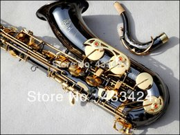 Wholesale 54 Tenor - French Selmer 54 Bb Tenor Saxophone Top Musical Instrument Saxe Wear-resistant Black Nickel Plated Gold Professional Sax