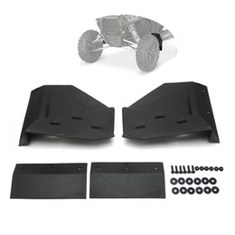Wholesale Mud Front - Wholesale- UTV Front Fender Flares Mud Flaps for Polaris RZR XP & 4 1000 Razor Raze Black 2014-2016 2015