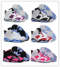 Wholesale White Christmas Discounted - VI Retro Basketball Shoes White Infrared 23 athletic shoes Women retro 6 CARMINE sports shoes Basketball Boots Men Athletics Discount