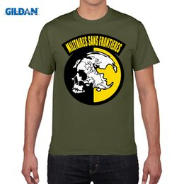 Wholesale Sumer Clothes - Militaires Sans Frontieres T Shirt Metal Gear Solid T-Shirt Cotton Men Women Tee MGS Tshirt Plus Size Sumer Clothing