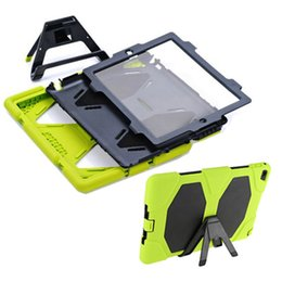 Wholesale Military Films - For iPad mini 2 3 4 5 6 air 3 in 1 Military Extreme Heavy Duty Shockproof Case With Kickstand Front film