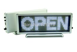 Wholesale White Window Panels - White color LED scrolling sign message display board desk panel advertising door window led mini display board advertising panel