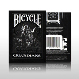 Wholesale Bicycle Playing Cards Free Shipping - 1 Deck Bicycle Guardians Playing Cards By Theory11 Black Magic Cardistry Deck Guardian Magic Trick Playing Card Free Shipping