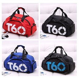 Wholesale Backpack Duffle - T60 New Popular Waterproof Backpack Outdoor Sports Bag Duffle Gym Bag Sports Bag Travel Bag+Independent Shoe Bit Free Shipping