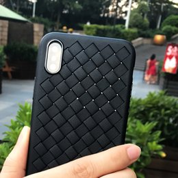 Wholesale Stripped Iphone Case Tpu - For iphone x case Leather Strips Weave Soft TPU Phone Case for iphone 10 x all-inclusive back protective cover