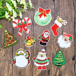 transfer bags Coupons - 10PCS set Christmas Fashion Patches for Clothing Iron on Transfer Applique Patch for Bags Jeans DIY Sew on Embroidery Sticker