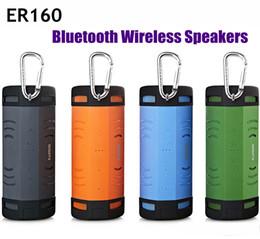 Bluetooth earson on-line-Earson Bluetooth Speaker Sem Fio Ao Ar Livre Portátil Bicicleta Clocksing Subwoofer para TF Cartão SD Chamada AUX Handsfree Mic ER160 À Prova D 'Água