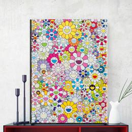 2019 dipinti fenice ZZ1856 Pittura di arte moderna Takashi Murakami sole pittura a olio decorazione di arte della parete per la Tela di canapa Opere D'arte pittura Murale art