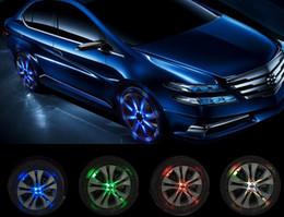 Wholesale Solar Led Wheel Lights - 4 pcs  12 LED Auto Car Wheel Light Tire Lamp Car Signal Decoration Solar Energy Car External Light