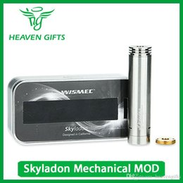 Wholesale Hotselling Original - Hotselling Original WISMEC Skyladon Mechanical Mod 18650 Battery Mod With Unique Grids Design & Long-narrow Holes W O Battery