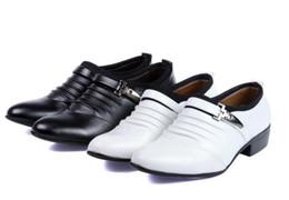 Wholesale White Suit Shoes Men - groom dress shoes casual shoes white wedding shoes suit gentleman men's shoes