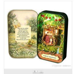 Wholesale Pvc Gifts Ideas - Cosplay toys Dollhouse Miniature Box Theatre Idea Gift Box Theater Handmade Theme Creative DIY toys Art Handicraft Gifts for Girl's Birthday