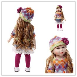 Wholesale Lifelike Dolls China - America Girls Dolls Handmade Lifelike Baby Doll 18 inch 45 cm Baby Simulation Toys D33