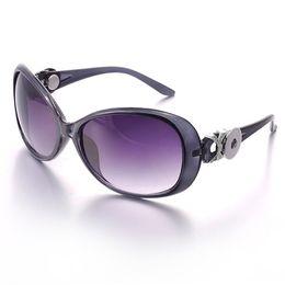 Wholesale Fit Sunglasses - Promotion-5pcs lot 5 colors Ginger Snap Button Women Sunglasses Goggle Glasses Eyewear UV Protection Sunglasses Fit Snap button jewelry