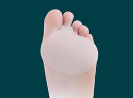 rilievo del piede della sfera dell'ammortizzatore Sconti Cuscino metatarsale in gel per uso medico Cuscino per piedi con cuscinetti a sfera Separatore per separatori di dita in silicone Supporto per dolore nell'avampiede 350Pairs / Lot
