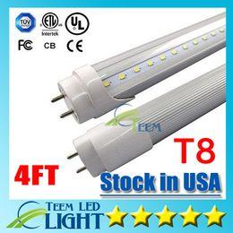 Wholesale Epistar Led Warm - Stock in US CE UL 4ft T8 22W Led Tube Light 2200lm 85-265V Led lighting Replace 1.2m 4 foot Fluorescent Tube Lamp