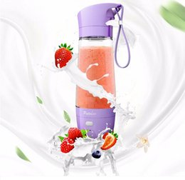 Wholesale hand warmers electric - NEW JUICING EPOCH 16oz electric juice bottle bpa 450ml fruit water bottle free plastic juice bottle with Power bank