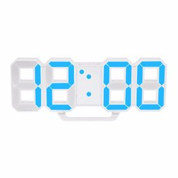 Wholesale Led Timers Clocks - Modern Design Large Size Digital LED Wall Clock Watch Unique Vintage Home Decoration Timer Watch Alarm Clocks