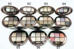 Wholesale Bright Eyes Make Up - 6 colors Diamond Eyeshadow Palette Diamond Bright Colorful Makeup Eyeshadow Super Make Up Set Glitter Eye shadow Palette With Brush & Mirror