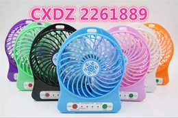 Wholesale Strong Led Battery - 2016 hot selling 1200mah Emergency Rechargeble Battery and micro usb charger plug Outdoor desk mini portable fan with LED strong wind
