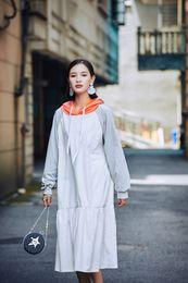 Wholesale Womens Plus Size Sweaters - Women hoodies Plus Size Clothing Hooded Pullover 2017 New Womens Hoody Sweatshirts Fashion Irregular Long Sleeve Sweater Hoodie Dress