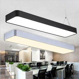 Wholesale Wiring Hanging Lamp - Hanging wire aluminum ceiling lamp office bar lights rectangular ceiling pendant light modern led chandelier lamp fixture for office