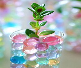 Wholesale Sea Water Pearl Wholesale - Wedding Decorations Party Clay Flower Baby Sea Water Pearl Resin Ball Crystal Crystal Soil Water Polo Toy For Plant Play Decorations