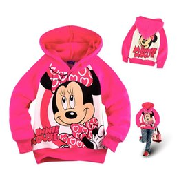 Wholesale Toddler Hoodies For Girls - Wholesale- Minnie Fleece Children's Winter Jackets for Girls Hoodies And Sweatshirt Kids Clothes Hooded Long Sleeves Toddler Girl Sweater