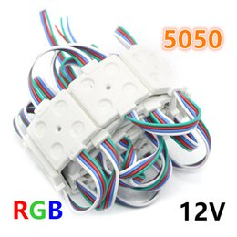 diseño de módulos Rebajas 12V Módulo de LED 5050 SMD 4LEDs RGB Inyección de LED Módulos Retroiluminación Diseño de anuncio Impermeable IP65 12V LED Módulos