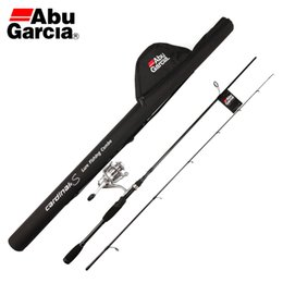 Wholesale Abu Garcia Spinning Rods - Free EMS Abu Garcia Brand Card S20 Full Metal Spinning Reel and S662M 1.98M Carbon Fishing Rod Spinning Lure Rod and Rod Bag SET
