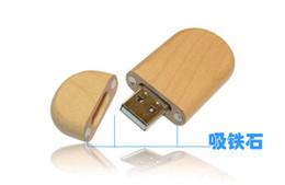 Wholesale 16gb Wood - 5 Piece No Logo Circular Wood U Disk Capacity Enough U Disk USB2.0 Environmental protection Circular USB Flash Drives