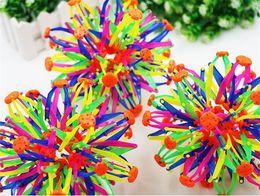 Wholesale Sphere Magic - 2016 New expanding sphere mini ball kids toy rainbow Colorful flower magic ball children's toys D916