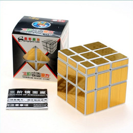 Wholesale Puzzle Sales - Hot Sale Shengshou Mirror Magic Ultra-smooth Professional 3x3x3 Speed Cube Puzzle Twist Gold Silver For Children Toys