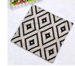 Wholesale Pillow Cover Geometric - Geometric Argyle Linen Throw Pillow Case Cushion Cover Home Decor IUT6523