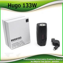 Wholesale vaporizer screens - Original HUGO 133 Box Mod VAPOR 133W TC Vape Mods Smart Vaporizer 0.96 Inch OLED Screen Dual 18650 100% Authentic 2234002