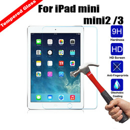 Wholesale china tempered glass - Wholesale For iPAD Tempered Glass Screen Protector For Ipad 2 3 4 Ipad mini Film Tablet Screen Protector 9H 0.4MM Retail Package free DHL
