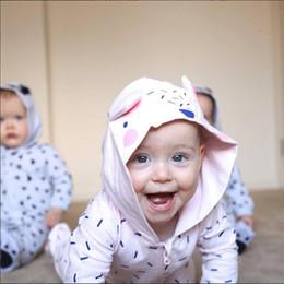 Wholesale Girls Footies - ins Boys Girls Wrap Foot Baby onesies Clothing Newborn Footies Rompers Jumpers Toddler Hooded Jumpsuits Romper Infant Bodysuit Clothes