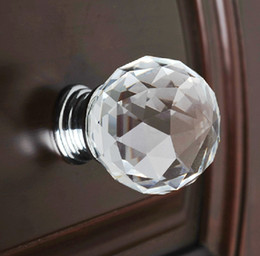 Wholesale Wholesale Door Pulls - 10pcs Modern Fashion K9 Crystal Glass Diamond Furniture Handles Hardware Drawer Wardrobe Kitchen Cabinets Cupboard Door Pull Knobs Wholesale